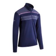 Callaway Golf Mens 1/4 Zip Print Chillout Pullover Peacoat