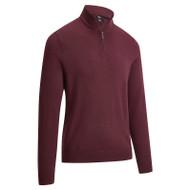 Callaway Golf Mens 1/4 Zipped Merino Sweater Fig