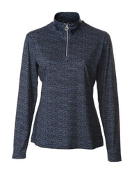 JRB Ladies 1/4 Zipped Golf Top Navy Melange