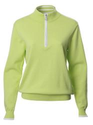 JRB Ladies Golf Sweater 1/4 Zipped Lime