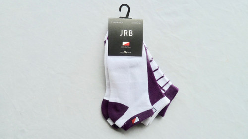 JRB Ladies Golf Socks Purple 3 Pack