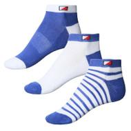 JRB Ladies Golf Socks Dusted Peri 3 Pack