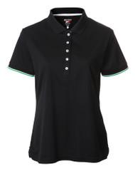 JRB Ladies Plain Short Sleeved Golf Shirt Black