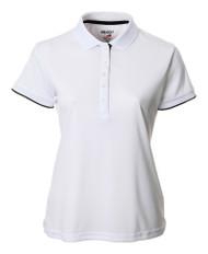 JRB Ladies Plain Short Sleeved Golf Shirt White
