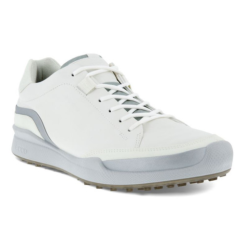Ecco Mens Biom Hybrid Golf Shoes White Silver