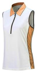 JRB Ladies White Trim Sleeveless Golf Shirt