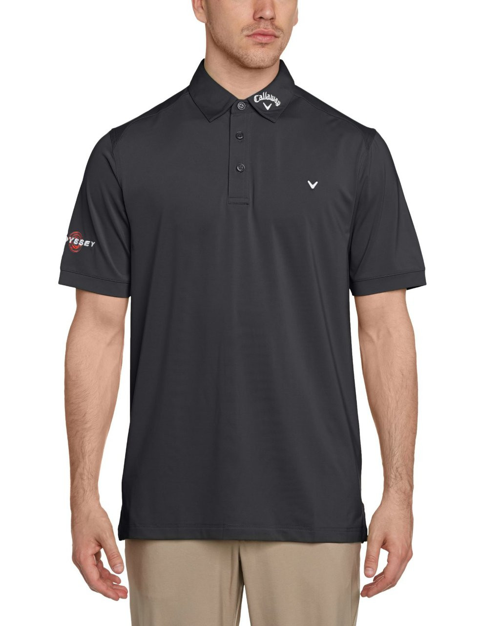 bfe9cf7b Callaway Mens Opti Vent Tour Golf Polo Shirt Caviar - London Pro Golf