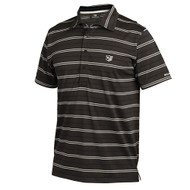 Wilson Classic Dry Mens Striped Polo Black Medium