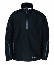 Hi-Tec Mens Half Zip Golf Jacket Black Small