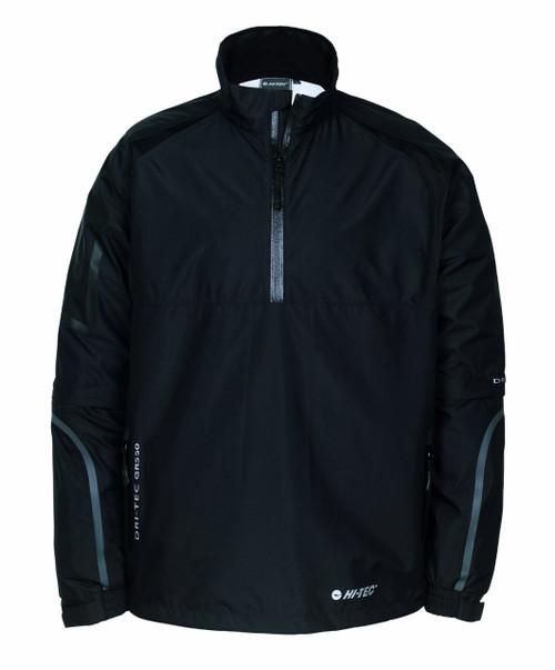 Hi-Tec Mens Half Zip Golf Jacket Black Small