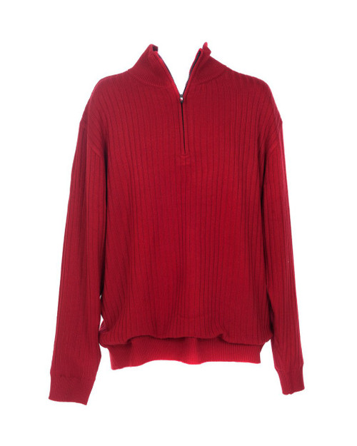 JRB Mens Windstopper Lined Golf Sweater Red