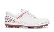 Ecco Mens Cage Golf Shoes Concrete/Tomato