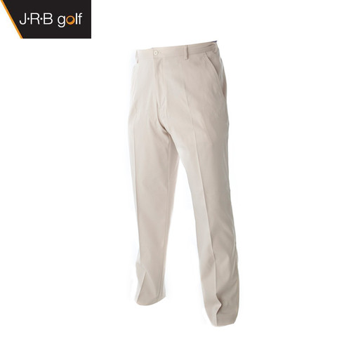 JRB Mens Dry Fit Golf Trousers Stone
