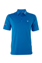 Callaway Men's Solid Interlock Polo Shirt Magnetic Blue