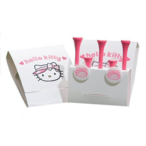 Hello Kitty Golf Tees and Ball Markers Pack x3