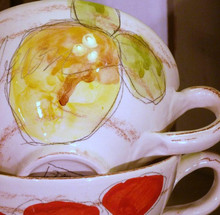 Provence Wide Mug with Handles Lemon