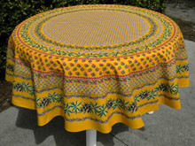 Table cloth in Mimosas Yellow