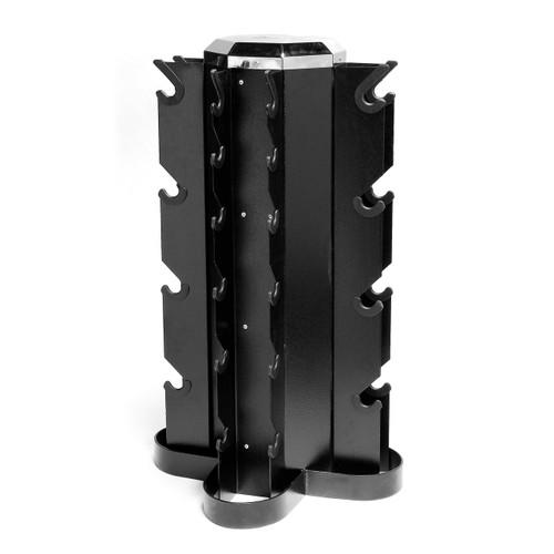 CAP Vertical 4-sided Dumbbell Rack, Black