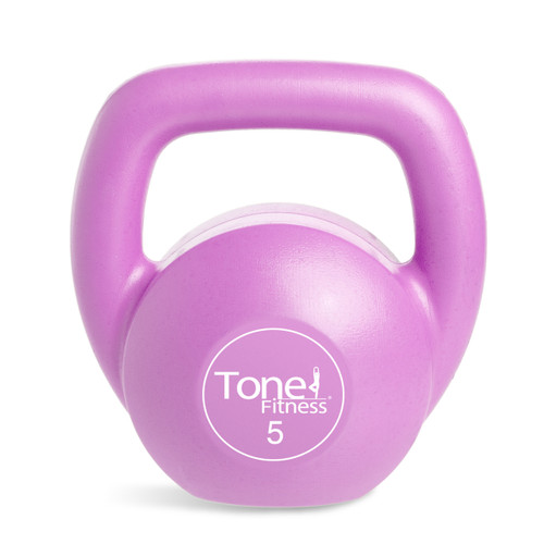Tone Fitness PVC Coated Cement Kettlebell