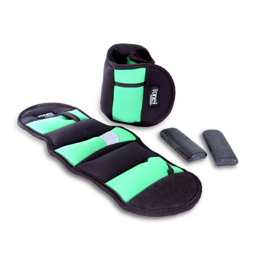 Tone Fitness Adjustable Ankle Weights, 5 lb