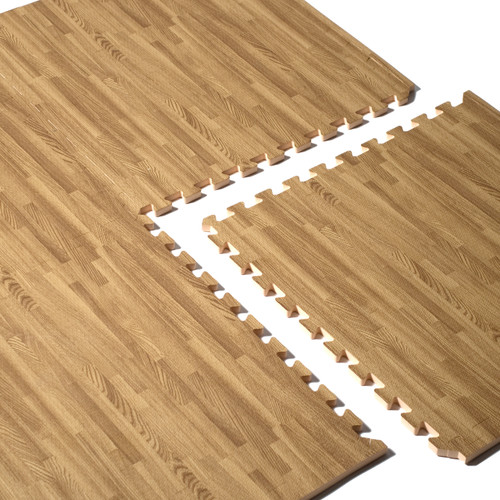 CAP 4PC Foam Tile Flooring With Wood Style Pattern (MT