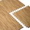 CAP 4-Piece Foam Tile Flooring with Wood Style Pattern