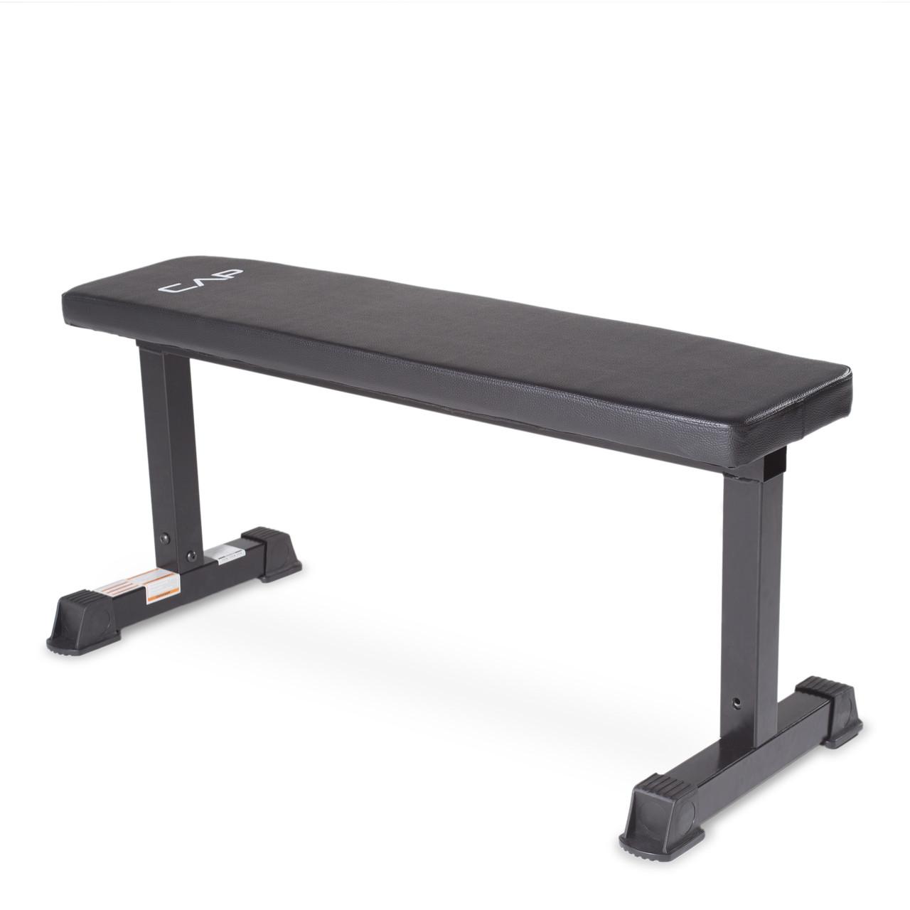 Enjoyable Cap Strength Flat Bench Black Fm 703B Creativecarmelina Interior Chair Design Creativecarmelinacom