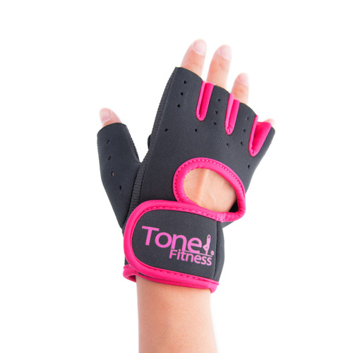 Tone Fitness Pink Weightlifting Gloves