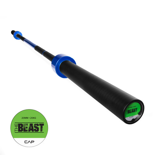 "CAP Custom ""The Beast"" Olympic Lifting Bar, Blue Flame (OB-86B-B)"