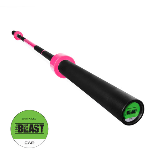 "CAP Custom ""The Beast"" Olympic Lifting Bar, Bubblegum Pink (OB-86B-PK)"