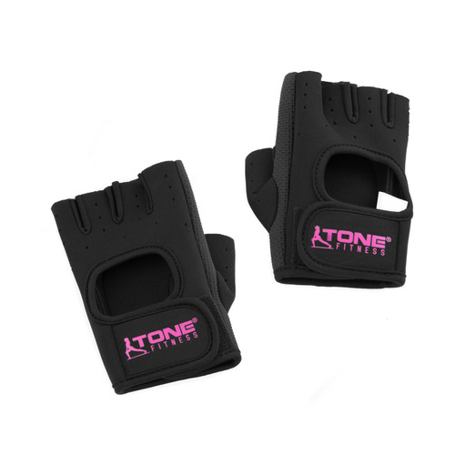 Tone Fitness Black Weightlifting Gloves, Pair