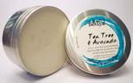 Bath & Soul Handmade Shave Soap in Tin - Tea Tree & Avocado