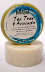 Bath & Soul Handmade Shave Soap - Tea Tree & Avocado