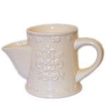 Shaving Mug, Cream, Embossed
