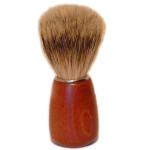 Zenith Badger Shaving Brush, Dark Wood