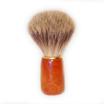 Zenith Badger Shaving Brush, Wooden Handle