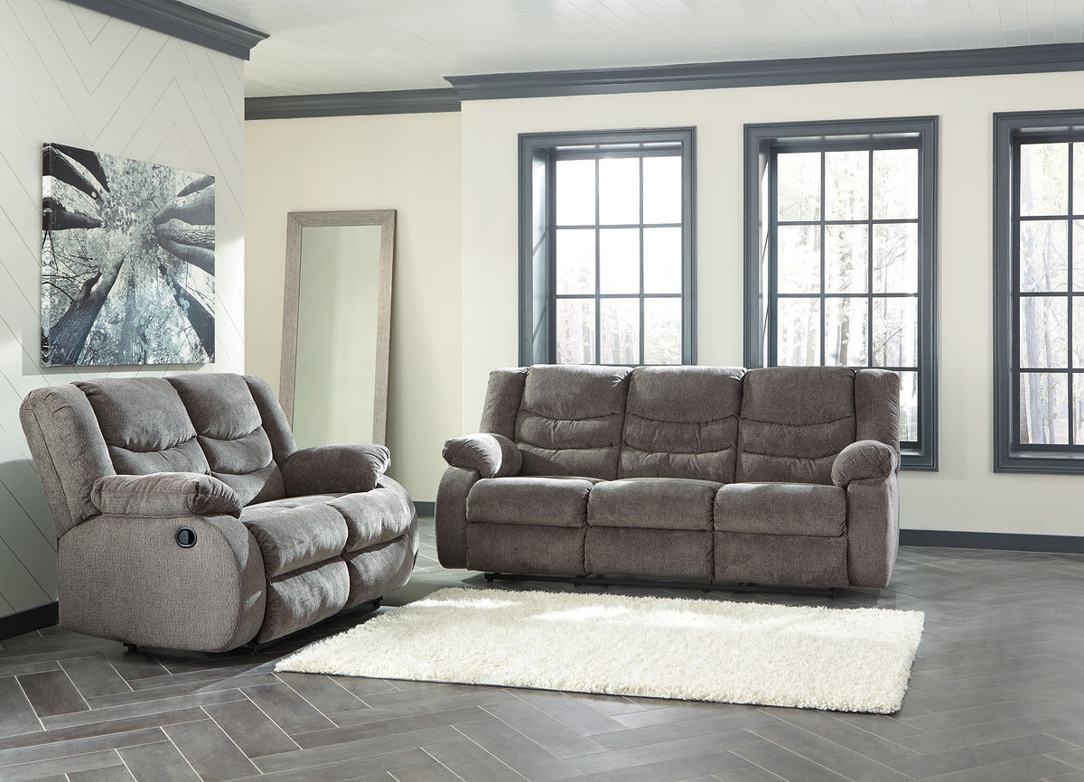 Sensational Tulen Gray Reclining Sofa Reclining Loveseat Ibusinesslaw Wood Chair Design Ideas Ibusinesslaworg