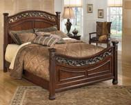 Leahlyn Warm Brown California King Panel Bed