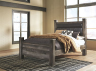 Wynnlow Gray King Upholstered Poster Bed