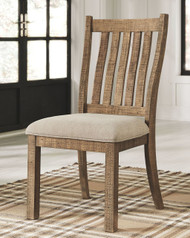 Grindleburg Light Brown Dining Upholstered Side Chair