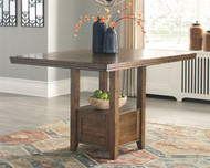 Flaybern Brown Rectangular Counter Extension Table