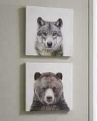 Albert Gray/Brown Wall Art Set