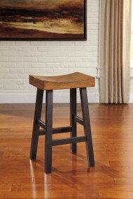 Glosco Brown Tall Saddle Stool