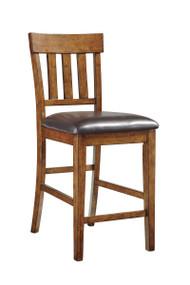 Ralene Medium Brown Upholstered Barstool
