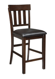 Haddigan Dark Brown Upholstered Barstool (Set of 2)