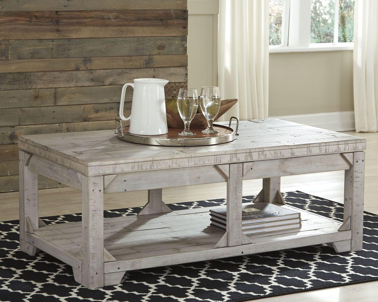 Farmhouse Lift Top Coffee Table.Fregine White Wash Lift Top Cocktail Table