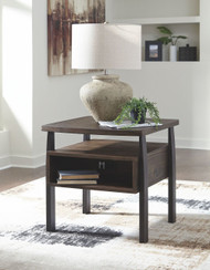 Vailbry Brown Rectangular End Table