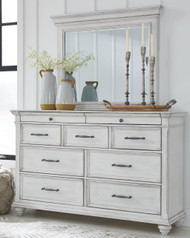 Kanwyn Whitewash Dresser & Mirror