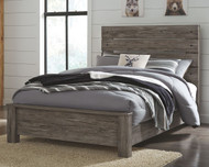 Cazenfeld Black/Gray Full Panel Bed