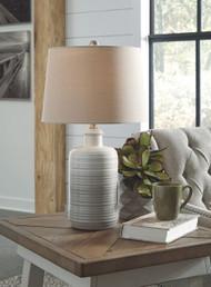 Marnina Taupe Ceramic Table Lamp